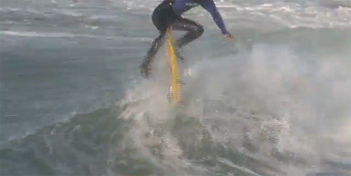 Kickflipping Surfboard