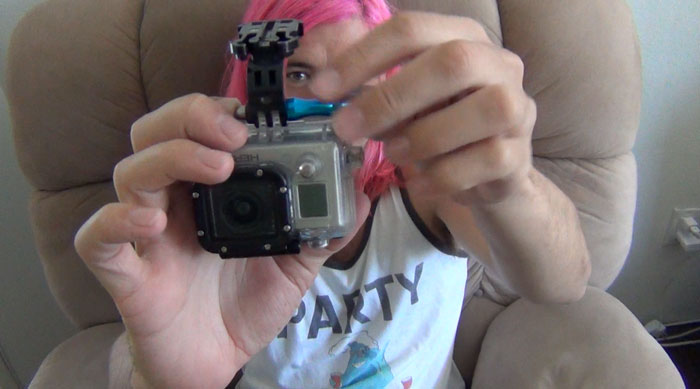 Attach J-Buckle to GoPro