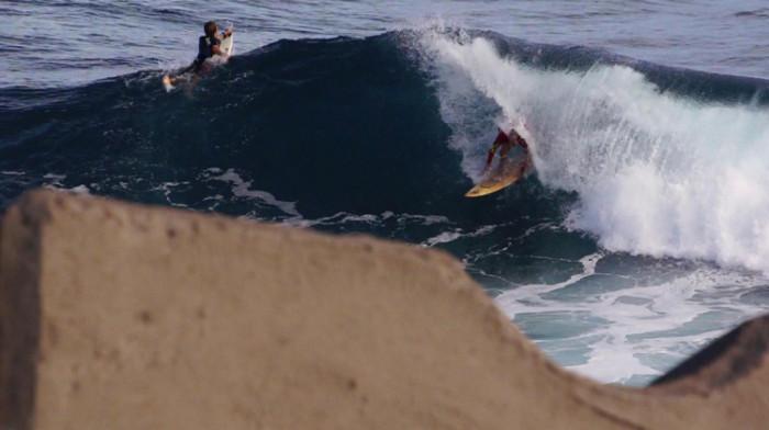 Eddy Chaussalet surfing Reunion Island