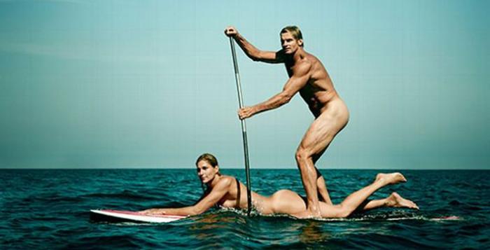 Laird Hamilton, Gabrielle Reece naked for ESPN