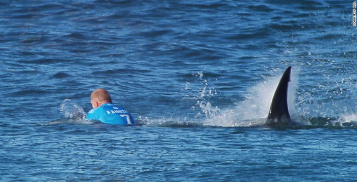 Mick Fanning shark attack J-Bay Open