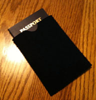 Neoprene passport pouch