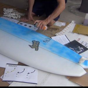 Painting your surf board