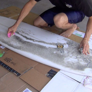 Scrape the wax off your surfboard