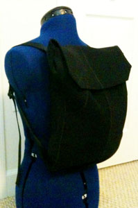 Backpack made from wetsuit