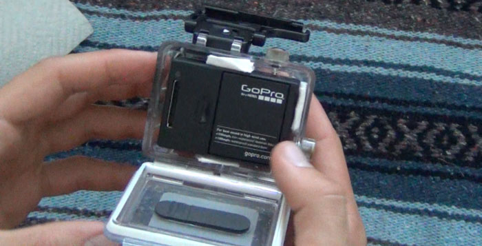 Place inserts around your GoPro case