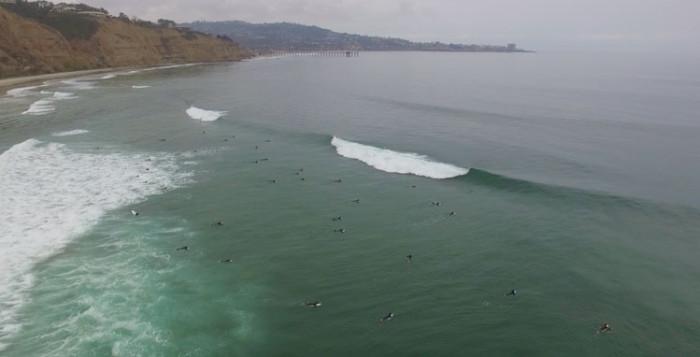 Black's Beach drone surfing edit