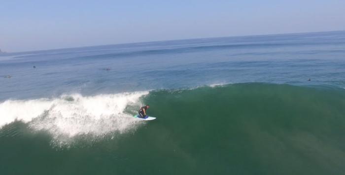 Black's Beach kneeboarder