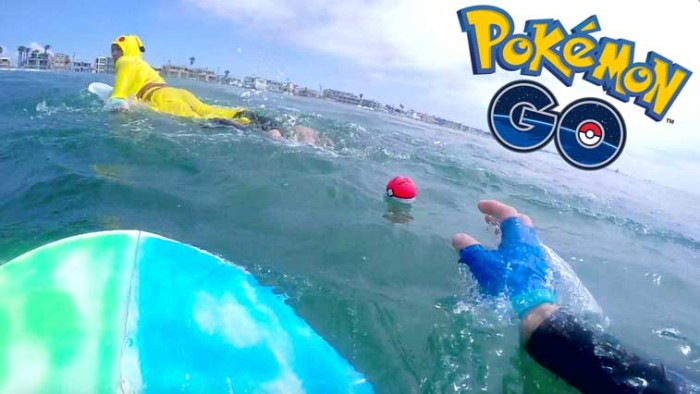 Pokemon Go Surfing