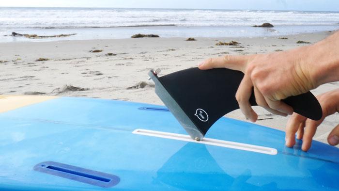 Inserting lonboard fin