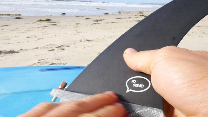 Sanding longboard fin