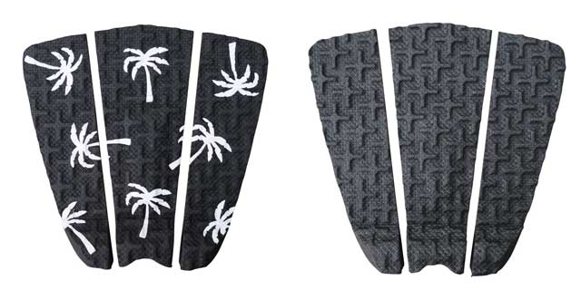 Black surfboard traction pads