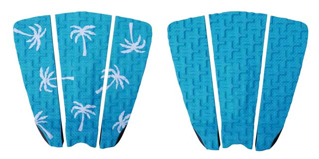 Blue (Aqua) surfboard traction pads