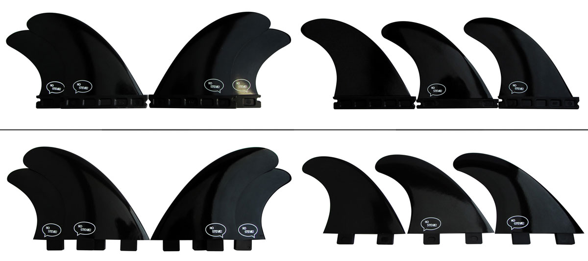 FCS and Futures, Thruster and Quad, FRP Surf Fins