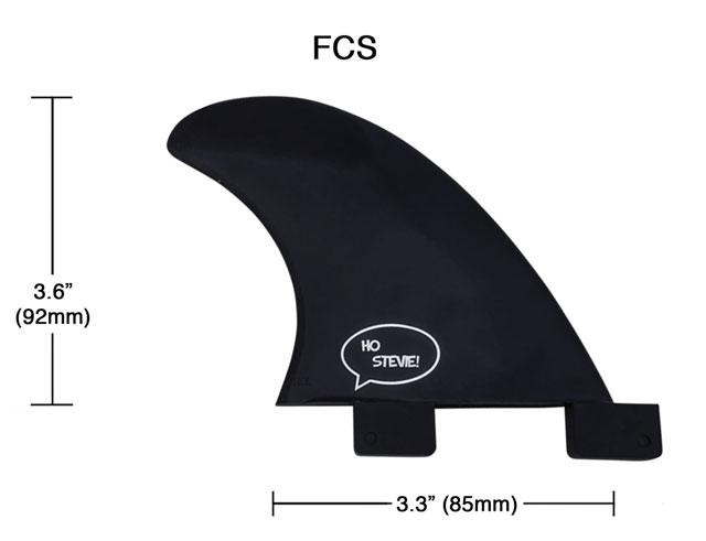 FCS Sidebite Fin Dimensions