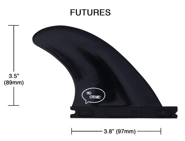 Futures Sidebite Fin Dimensions