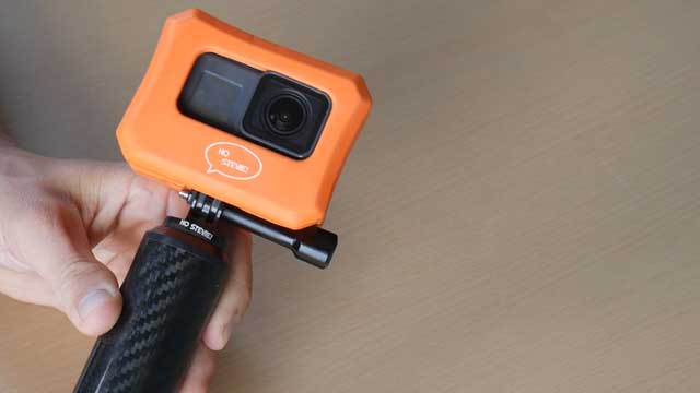GoPro floaty case used with handle