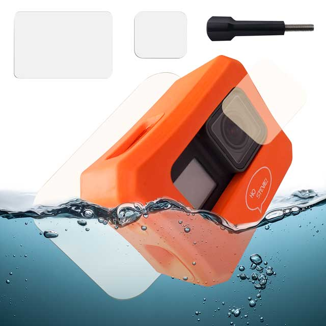 GoPro floaty case, long screw for GoPro, screen and lens protectors for Gopro