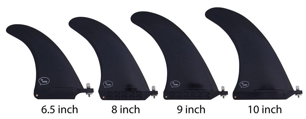 Center Fin Sizes