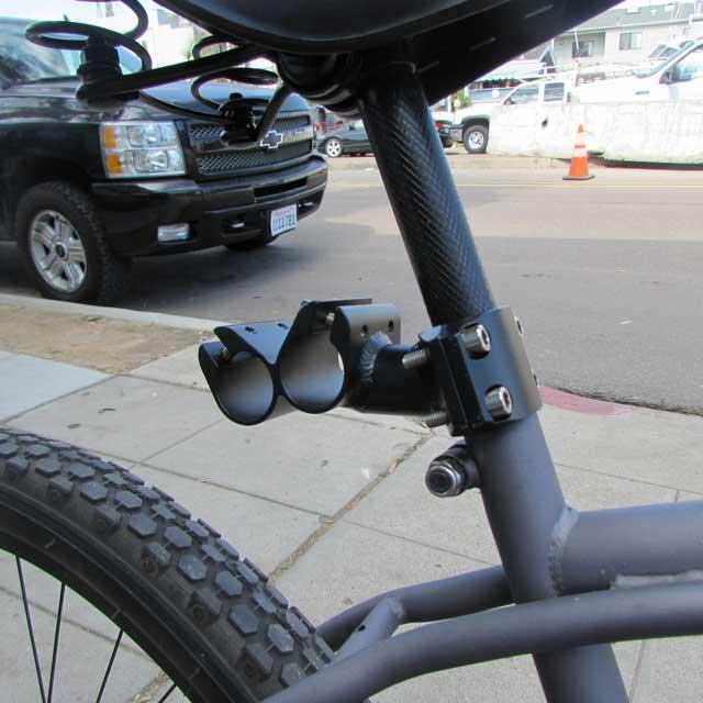 Seatpost mount for surfboard bike rack