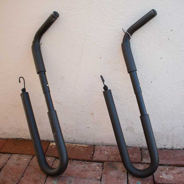 Scooter/Moped surfboard rack arms