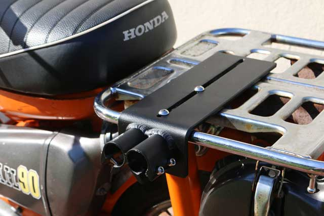 Attach mount to scooter cargo rack
