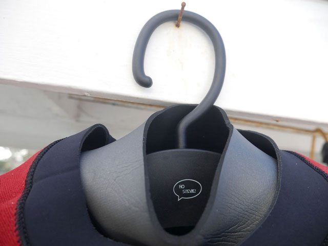 Wetsuit hanger with swiveling hook