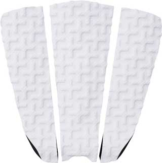 White surfboard traction pad