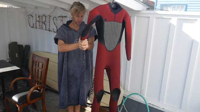 Wring the water out of your wetsuit
